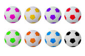 Colorful footballs — Stock Photo