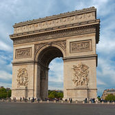Herbst-Blick auf den Arc de Triomphe, paris. — Stockfoto