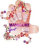 Profesional manicure — Stock Photo