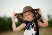 Child in hat — Stock Photo