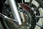 Motorbike wheel — Stock Photo