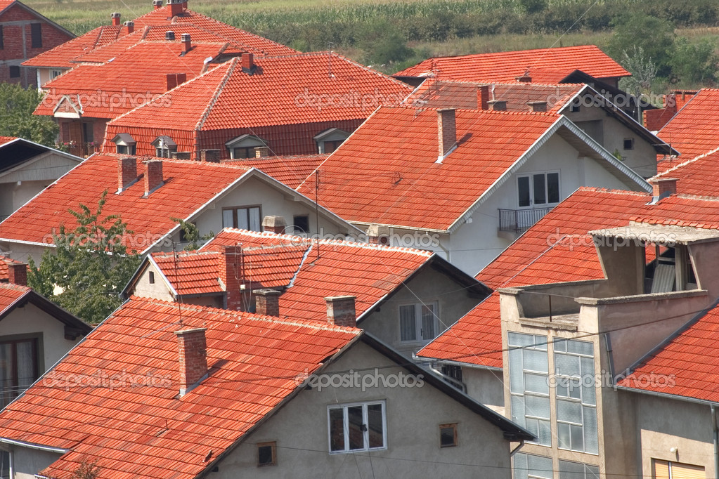 A view on red roofs — Stock Photo #4217010