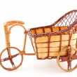 Empty wooden wheelbarrow — Stock Photo