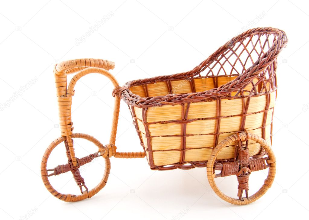 Empty wooden wheelbarrow — Stock Photo #4776515