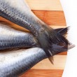 Close up of Fish tails — Stock Photo