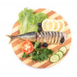 Sliced herring with vegetables — Stock Photo #4940647