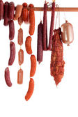 Hanging sausage — Stock Photo