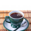 Cup of green tea isolated — Stockfoto