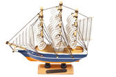 Toy ship isolated on a white — Stock Photo