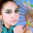 Young beautiful china girl with umbrella - Stock fotografie