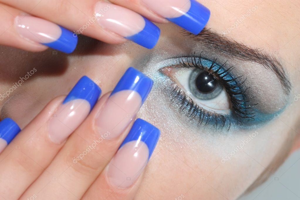 Young woman with beautiful nails  Stock Photo #4752597