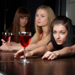 Young women in bar — Stockfoto #4058458
