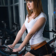 Girl on bicycle - Stock Photo