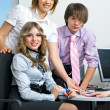 Royalty-Free Stock Photo: Young business team