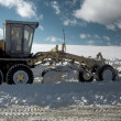 Snow grader - Stock Photo