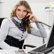 Businesswomand phone — Stockfoto #4089254