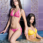 Girls in massage bath — Stock Photo #4091489