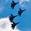 Team flight of su-27 - Stock Photo
