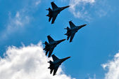 Team flight of su-27 — Stock Photo