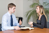 Business-interview — Stockfoto