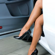 Stock Photo: Pretty womin car