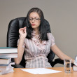 Royalty-Free Stock Photo: Lady-boss in office