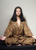 Meditative girl — Stock Photo