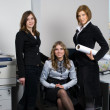 Businesswoman with her team — Stock Photo