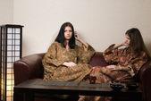 Women in japanese spa — Stock Photo