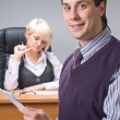 Businessman in office — Stockfoto