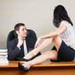 Boss and him secretary — Stock Photo