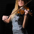 Woman with violin — Stock Photo #4174630