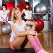 Stock Photo: Fitness girls