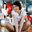 Girl in fitness center — Stock Photo #4180992