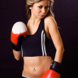 Boxing girl - Stock Photo