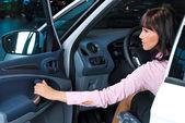 -uma linda mulher motorista — Foto Stock