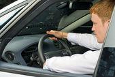 Uomo di guida — Foto Stock