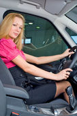 Driving girl — Stock Photo