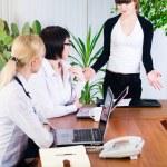 Businesswoman with presentation — Stock Photo #4238772