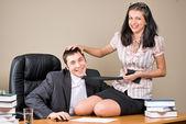 Boss and secretary — Stock Photo