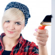 Young woman with paintbrush — Stock Photo #4258686