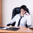 Business woman with laptop — Stock Photo #4265107