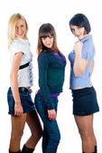Three beautiful girls — Stock Photo