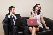 Imprenditrice con portatile — Foto Stock