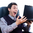 Foto de Stock  : Surprised businessman