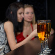 Young women in bar — Stockfoto #4316003