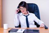 女企业家在办公室 — 图库照片