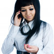 Talking girl by mobile — Stock Photo #4330348