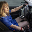 Driving girl — Stock Photo #4357405