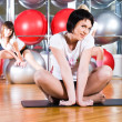 girl in fitness center — Stock Photo #4380341